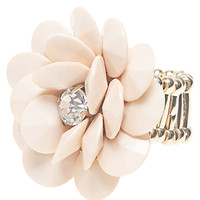 Layered Stone Flower Ring | Wet Seal