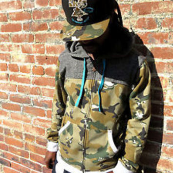 LRG Lifted Research Group Hoodie New $89 Mens Camo Full Zip Jacket Choose Size