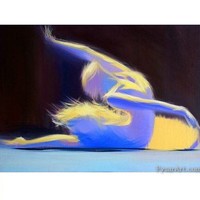 Abstract ballet - Ballerina Print - Dancer Canvas Art Print from original oil painting by Yuri Pysar