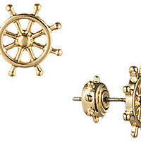 Ships Helm Earrings