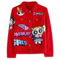 Indie Designs Powerpuff Girls Red Denim Jacket
