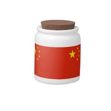 Chinese Flag Candy Jar