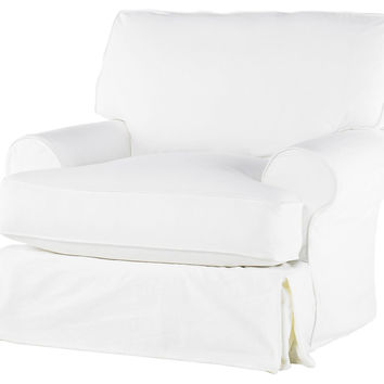 Comfy Swivel Chair, White, Club Chairs