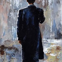 Rain day - Bowler hat Painting by Emerico Imre Toth - Rain day - Bowler hat Fine Art Prints and Posters for Sale