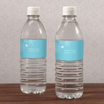 Winter Finery Water Bottle Label Berry (Pack of 1)