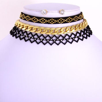 Paulette Choker - Set of 3