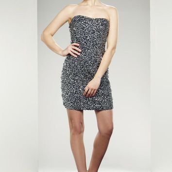 Theia - Crystal Crusted Dress 880876