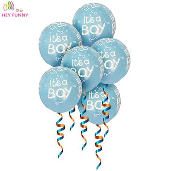 10pcs/lot It is a boy and it's a girl, baby boy latex balloons for Wedding, Birthday, Baby shower Party Decoration