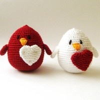 Valentine Couple Love Birds setof 2 wedding cake by sabahnur