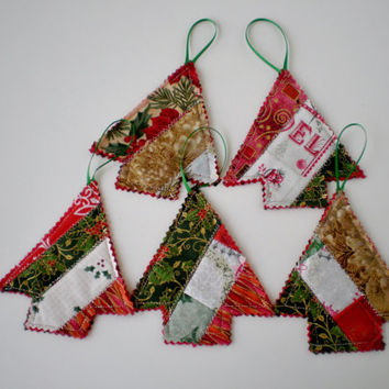 Christmas Ornaments Handmade Christmas Decorations Gift Tags Window Door Hangings Set of Three