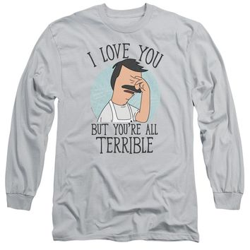 Bobs Burgers - Love You Terribly Long Sleeve Adult 18/1 Officially Licensed Shirt