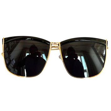 Metal Frame Retro Sunglasses