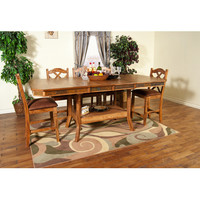 Sunny Designs Sedona Collection Six Piece Dining Set In Rustic Oak
