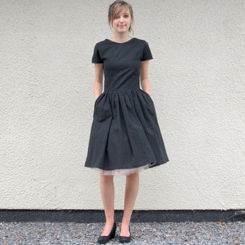 Little Black Organic T Shirt Dress made to order by makemeadress