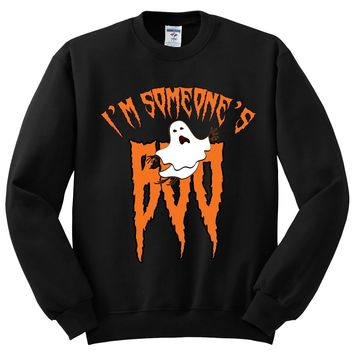 I'm Someone's BOO Halloween Crewneck Sweatshirt. Awesome Gift for Halloween
