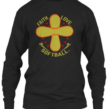 Softball Shirt - Faith. Love. Softball