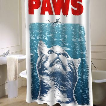 Crazy Cat Meow Paws Jaws showercurtain