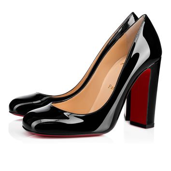 Cadrilla 100 Black Patent Leather - Women Shoes - Christian Louboutin