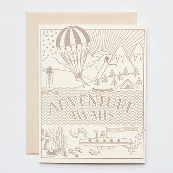 Adventure Awaits Congratulations Card