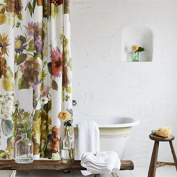 Palace Flower Birch Shower Curtain by Designers Guild