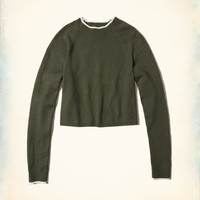 Girls Mockneck Crop Sweater | Girls New Arrivals | HollisterCo.com