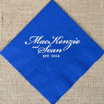 Personalized Name and Date Napkins - Set of 100