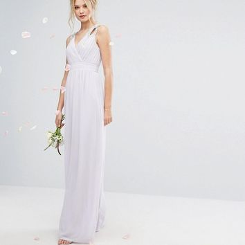 TFNC Tall Wedding Wrap Front Maxi Dress With Embellishment at asos.com