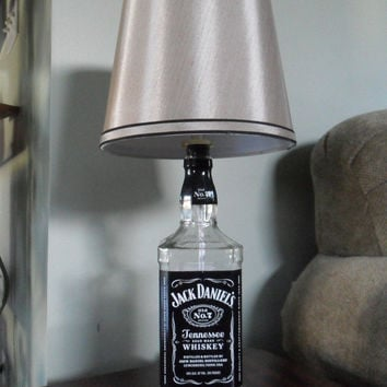 Recycled Liquor Bottle Lamp - Jack Daniels