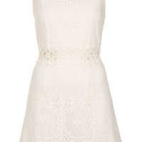 60s Lace Panel Shift Dress - Topshop USA