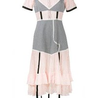 Sandy Liang Accord Gingham And Lace Dress - Farfetch