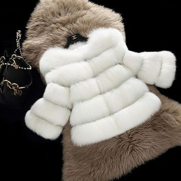 Mink Faux Fur Coat