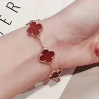 Van Cleef & Arpels New fashion four-leaf clover sterling silver bracelet