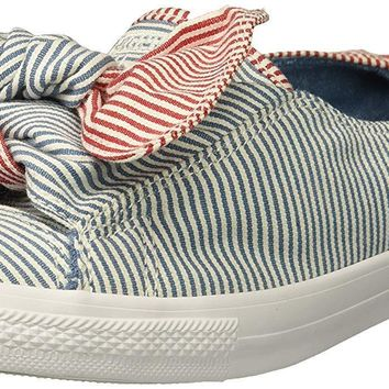 Converse Women's Knot Striped Chambray Slip on Sneaker