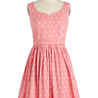 People Tree Eco-Friendly Mid-length Tank top (2 thick straps) A-line Adorable Errands Dress in Pink