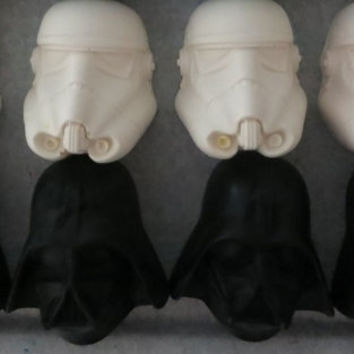 Star Wars Crayon Favors, Custom Star Wars Darth Vader Crayon Favors, Storm Trooper Party Favors