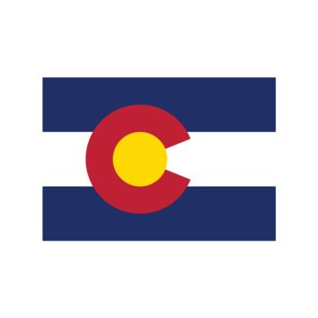 Colorado State Flag Stickers