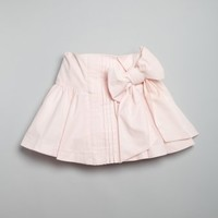 Dolce & Gabbana TODDLER / KIDS pink stretch cotton pleated bow skirt | BLUEFLY up to 70 off designer brands