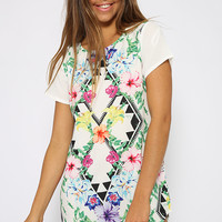 Zippity Tunic Dress - Print