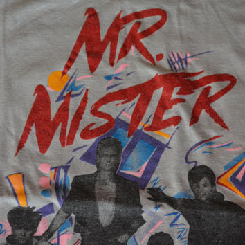 Vintage 80s Mr. Mister Tour Shirt Welcome to the Real World  - Retro Band Shirt Rock and Roll