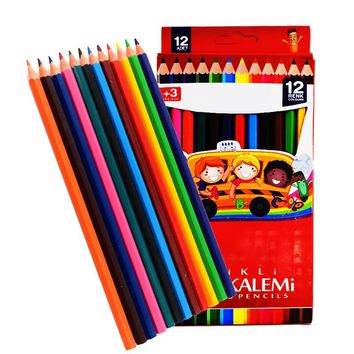12Pcs  Art Painting Colored Pencils Watercolor Kawaii Material Escolar Color Pencil For Drawing Kids Gifts Stationery