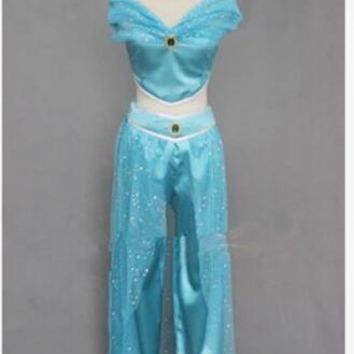 princess jasmine costume Aladdin's Princess cosplay halloween women adult party carnival costume hot sell Belly dance dress