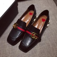 Gucci Women Fashion Casual Low Heeled Shoes