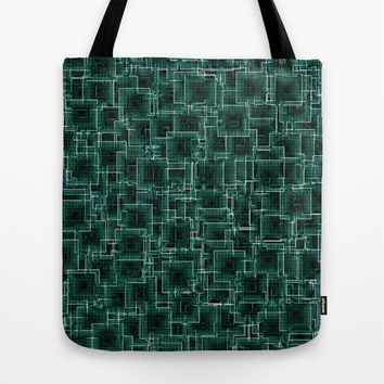 The Maze - Teal Tote Bag by Alice Gosling