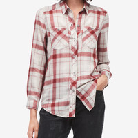 Calvin Klein Jeans Plaid Shirt - Tops - Women - Macy's