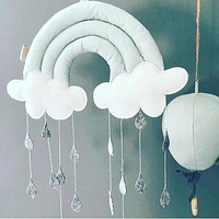 Nordic Wall Hanging Kids Play Tent Decoration Tent Props Toy Raining Pendants Accessories Ornaments Children Safe Natural Toys