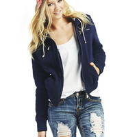 Fleece Hooded 2fer Jacket | Wet Seal