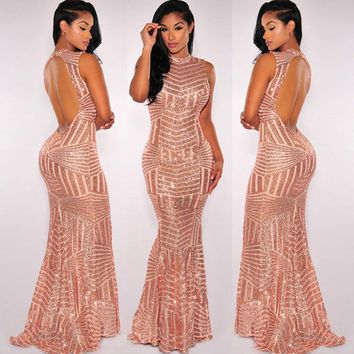 Golden Goddess Fishtail Dress
