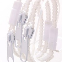 White Zipper Decor Bracelet Trio