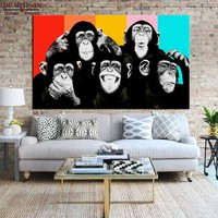 Canvas Wall Art: The Thinking Monkey's Wall Art on Canvas