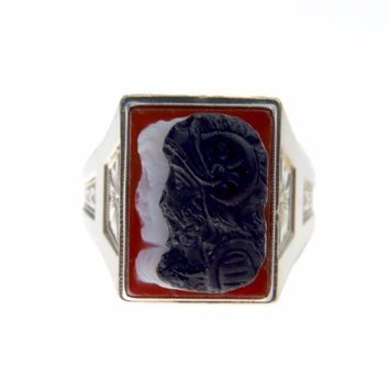Ostby and Barton Men's Cameo Signet Ring